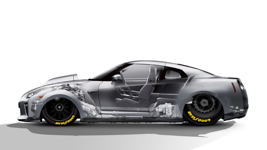 Pro stock Nissan GTR