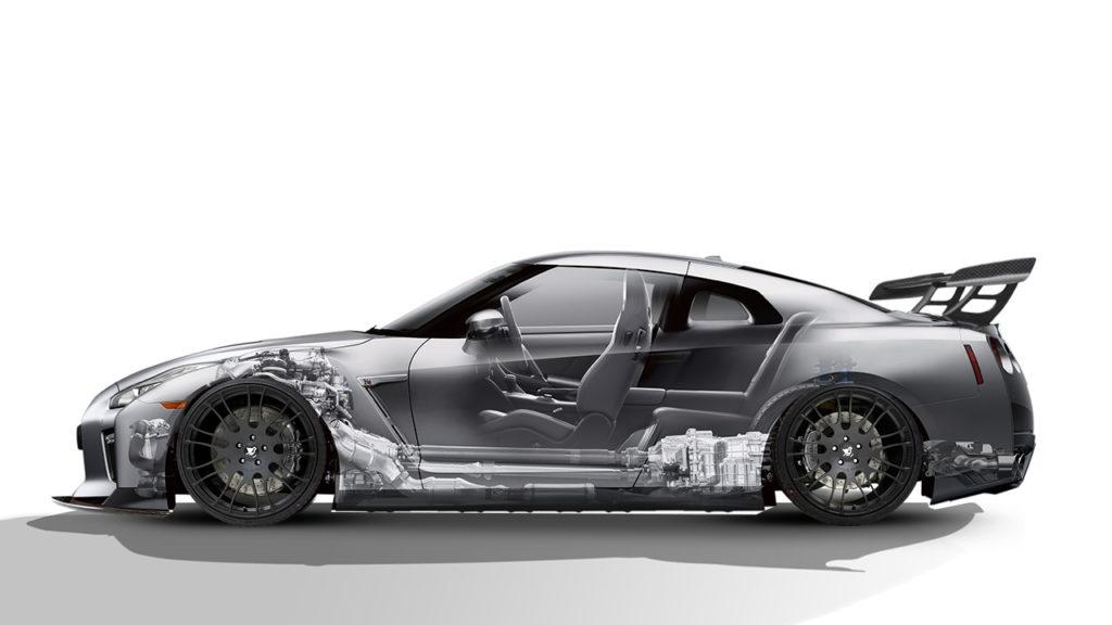 Тюнинговый Nissan GTR