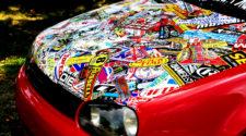 Виниловые наклейки на капот автомобиля