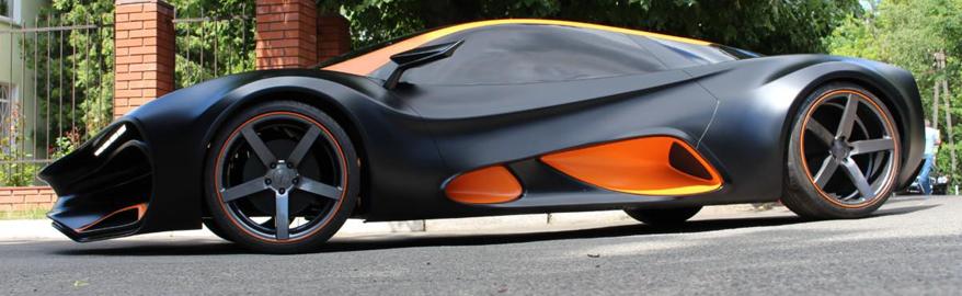 Украинские инженеры создали электрический прототип суперкар Himera Q