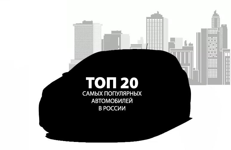 ТОП 20 САМЫХ ПОПУЛЯРНЫХ АВТОМОБИЛЕЙ В РОССИИ