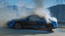 Ведущие Top Gear едва не сгорели в предсерийном Alpine - видео