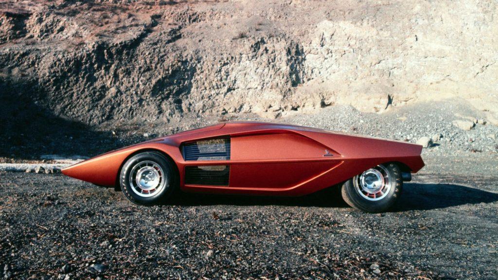 Lancia Stratos Zero 1970 года стала образцом для многих суперкаров