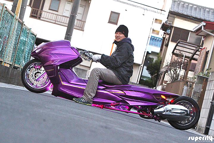 YAMAHA MAJESTY - двухколесный лоурайдер по-японски