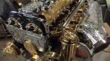 Позолоченный и отполированный 2JZ-GTE