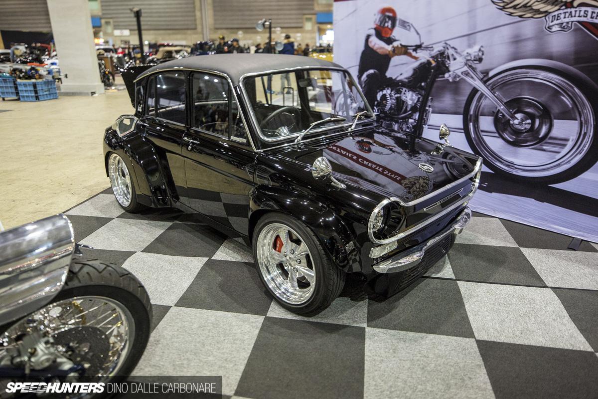 Хотрод из кей-кара - Mazda Carol с двигателем Harley Davidson