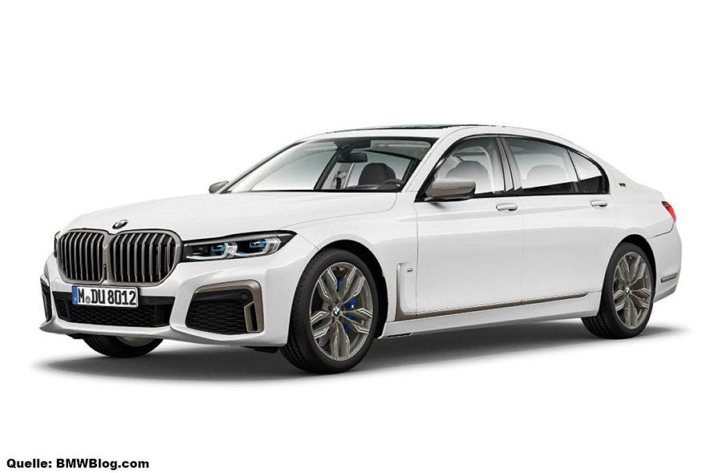 В Сеть случайно попали фотографии фейслифтинговой BMW 7 серии G12