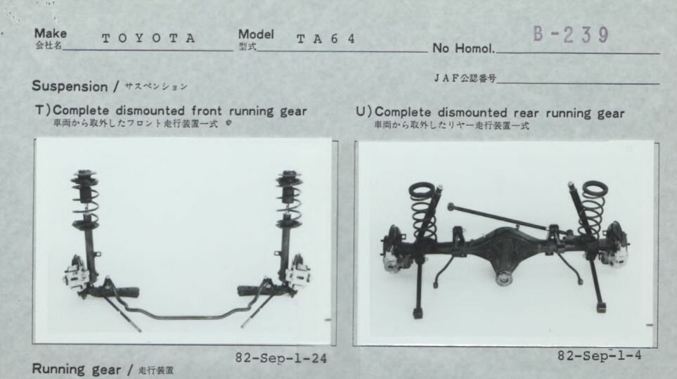 В марте 1983 года Тойота омологирует свою Селику (ТА64) для участия в Чемпионате мира по ралли в группе Б, которая не выглядела серьёзным претендентом на победу. Классическая компоновка, тяжёлый серийный кузов,