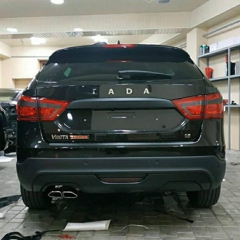 Lada vesta SW Cross тюнинг - Черная Мамба